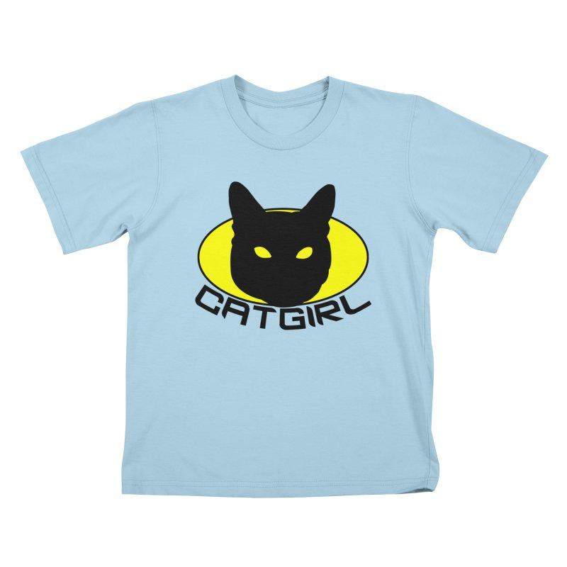 CAT-GIRL! Kids T-Shirt by Stevie Richards Artist Shop