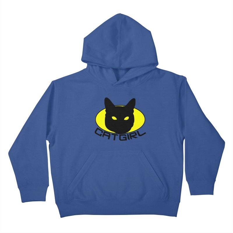 CAT-GIRL! Kids Pullover Hoody by Stevie Richards Artist Shop