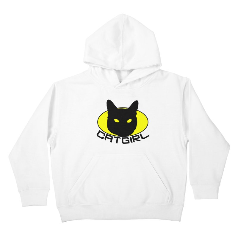CAT-GIRL! Kids Pullover Hoody by Stevie Richards Artist Shop