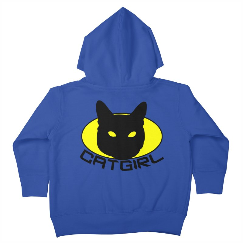 CAT-GIRL! Kids Toddler Zip-Up Hoody by Stevie Richards Artist Shop