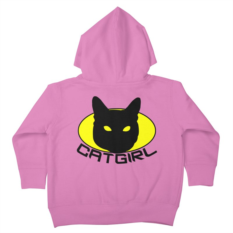 CAT-GIRL! Kids Toddler Zip-Up Hoody by Stevie Richards Artist Shop