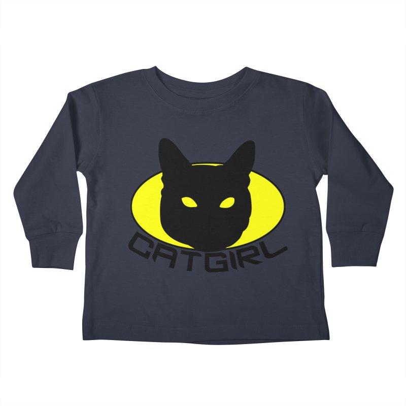 CAT-GIRL! Kids Toddler Longsleeve T-Shirt by Stevie Richards Artist Shop