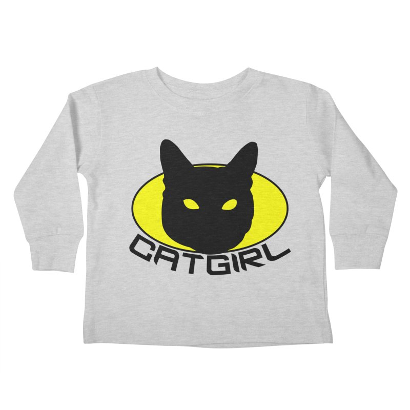 CAT-GIRL! Kids Toddler Longsleeve T-Shirt by Stevie Richards Artist Shop