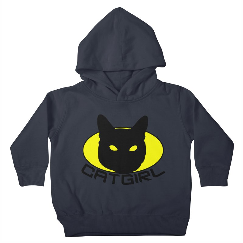 CAT-GIRL! Kids Toddler Pullover Hoody by Stevie Richards Artist Shop
