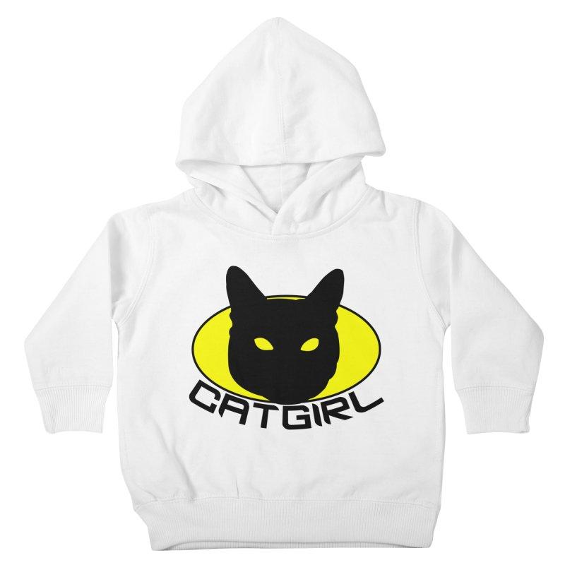 CAT-GIRL! Kids Toddler Pullover Hoody by Stevie Richards Artist Shop