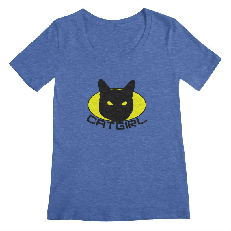 CAT-GIRL! Women's Scoopneck by Stevie Richards Artist Shop