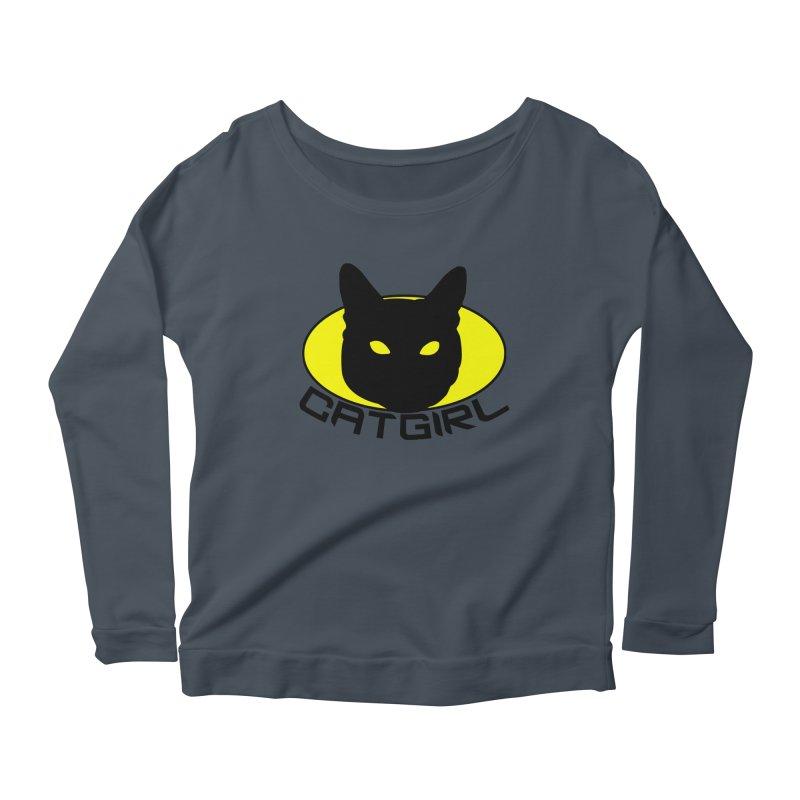 CAT-GIRL! Women's Longsleeve Scoopneck  by Stevie Richards Artist Shop