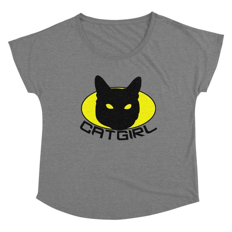 CAT-GIRL! Women's Scoop Neck by Stevie Richards Artist Shop
