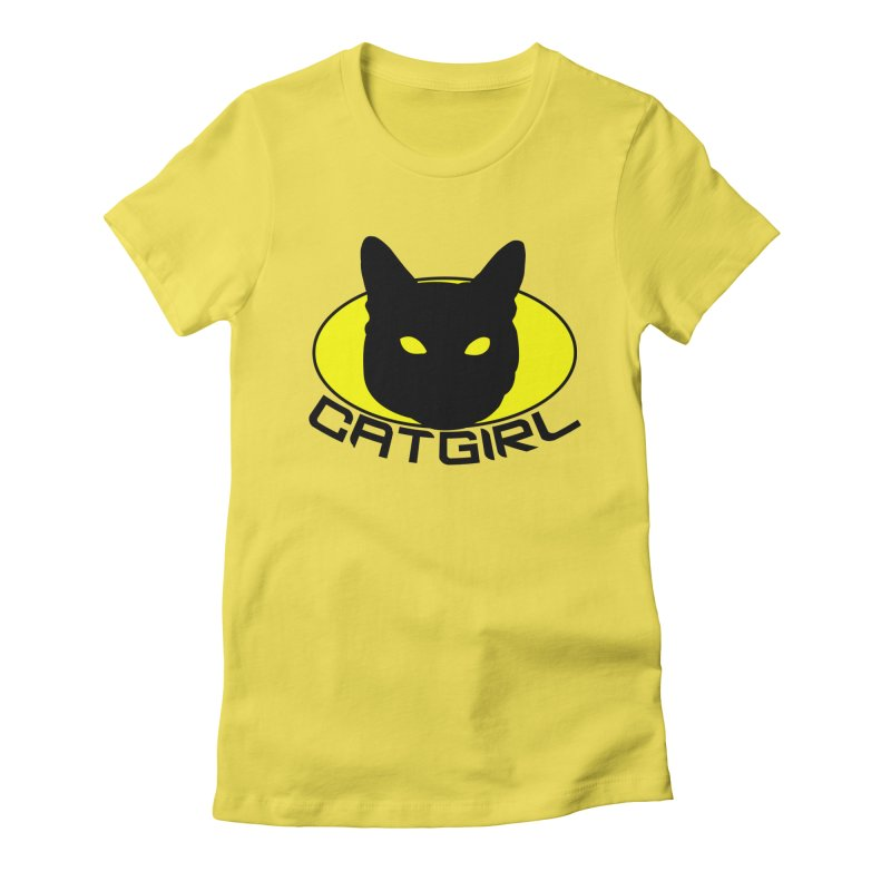 CAT-GIRL! Women's Fitted T-Shirt by Stevie Richards Artist Shop