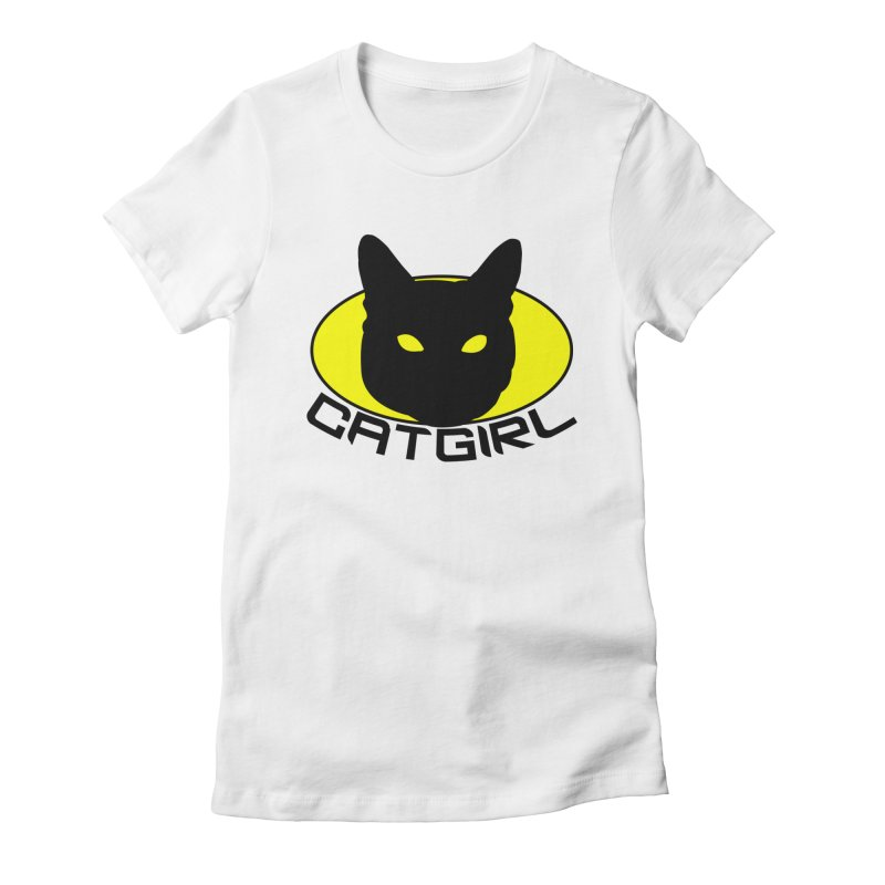 CAT-GIRL! Women's Fitted T-Shirt by Stevie Richards Artist Shop