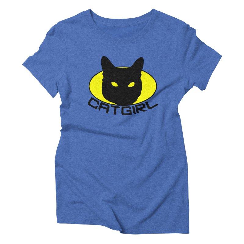 CAT-GIRL! Women's Triblend T-shirt by Stevie Richards Artist Shop