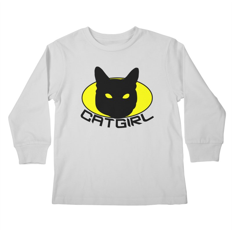 CAT-GIRL! Kids Longsleeve T-Shirt by Stevie Richards Artist Shop