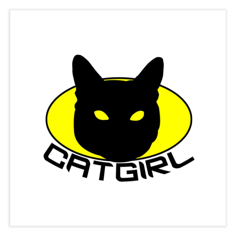 CAT-GIRL! Home Fine Art Print by Stevie Richards Artist Shop