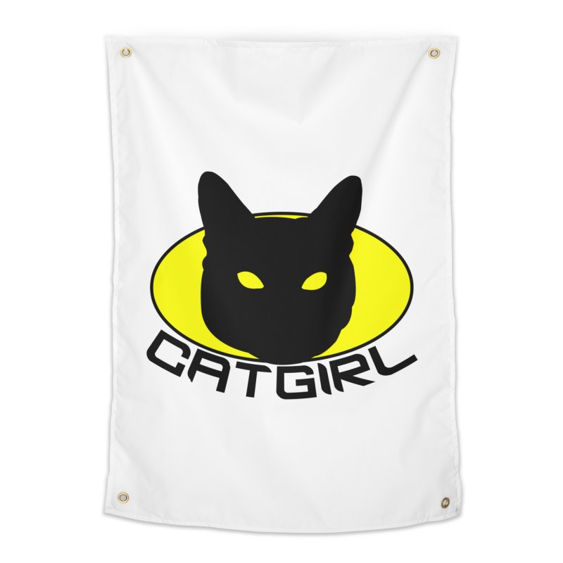 CAT-GIRL! Home Tapestry by Stevie Richards Artist Shop