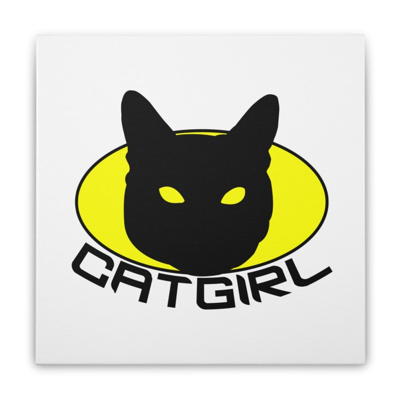 CAT-GIRL! Home Stretched Canvas by Stevie Richards Artist Shop