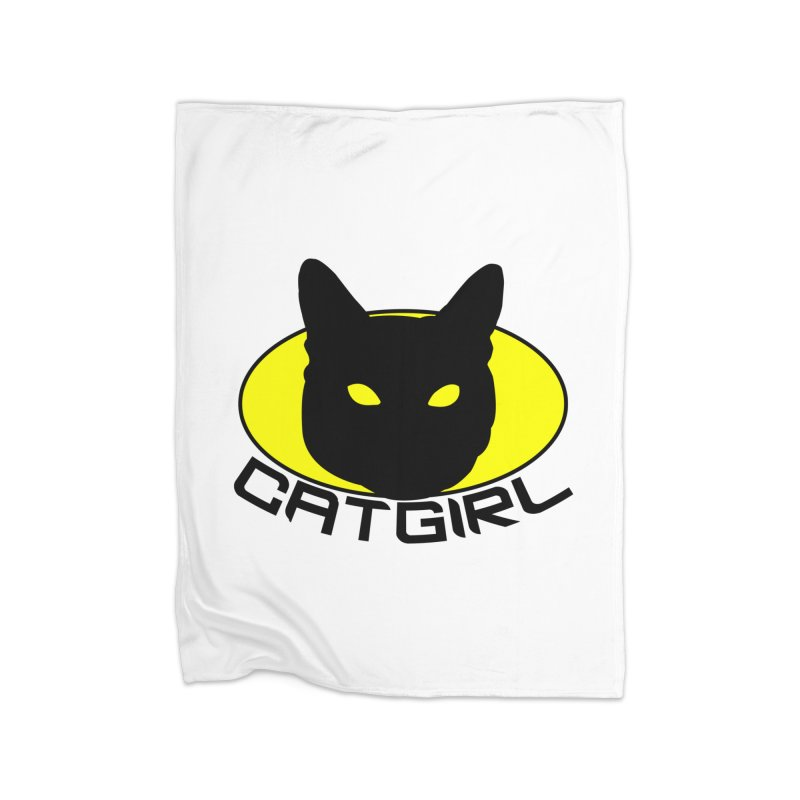 CAT-GIRL! Home Fleece Blanket Blanket by Stevie Richards Artist Shop