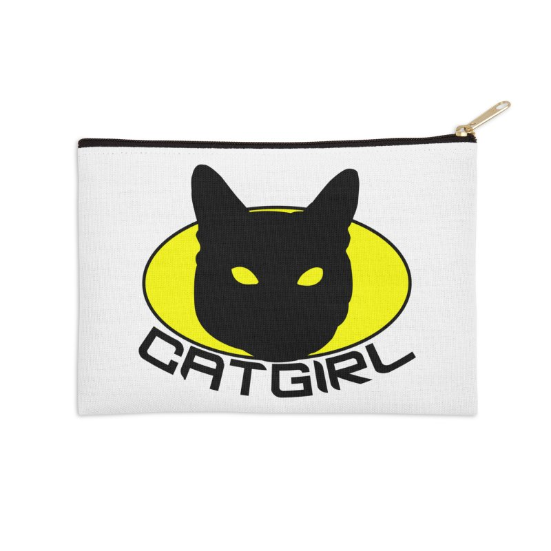 CAT-GIRL! Accessories Zip Pouch by Stevie Richards Artist Shop