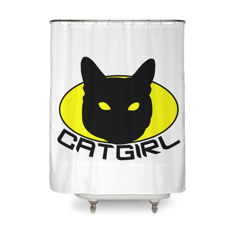 CAT-GIRL! Home Shower Curtain by Stevie Richards Artist Shop