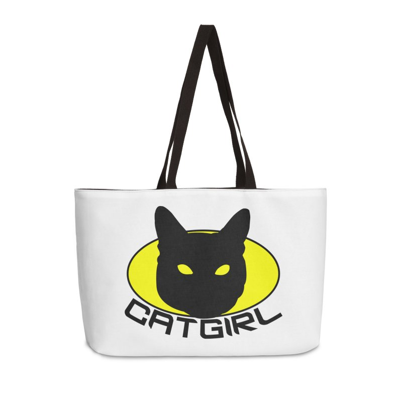 CAT-GIRL! Accessories Weekender Bag Bag by Stevie Richards Artist Shop