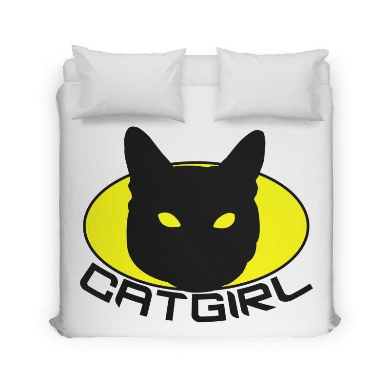 CAT-GIRL! Home Duvet by Stevie Richards Artist Shop