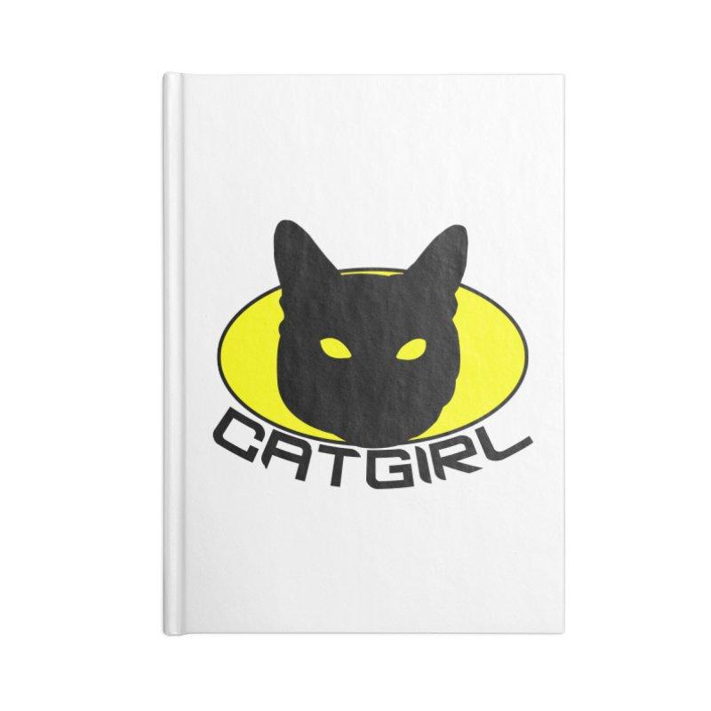 CAT-GIRL! Accessories Lined Journal Notebook by Stevie Richards Artist Shop
