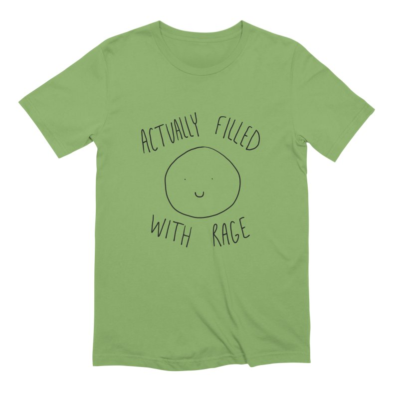 Actually Filled With Rage Men's Extra Soft T-Shirt by Stick Figure Girl Stuff