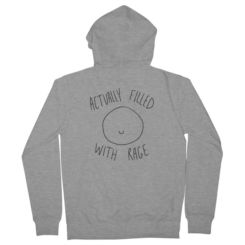 Actually Filled With Rage Men's French Terry Zip-Up Hoody by Stick Figure Girl Stuff