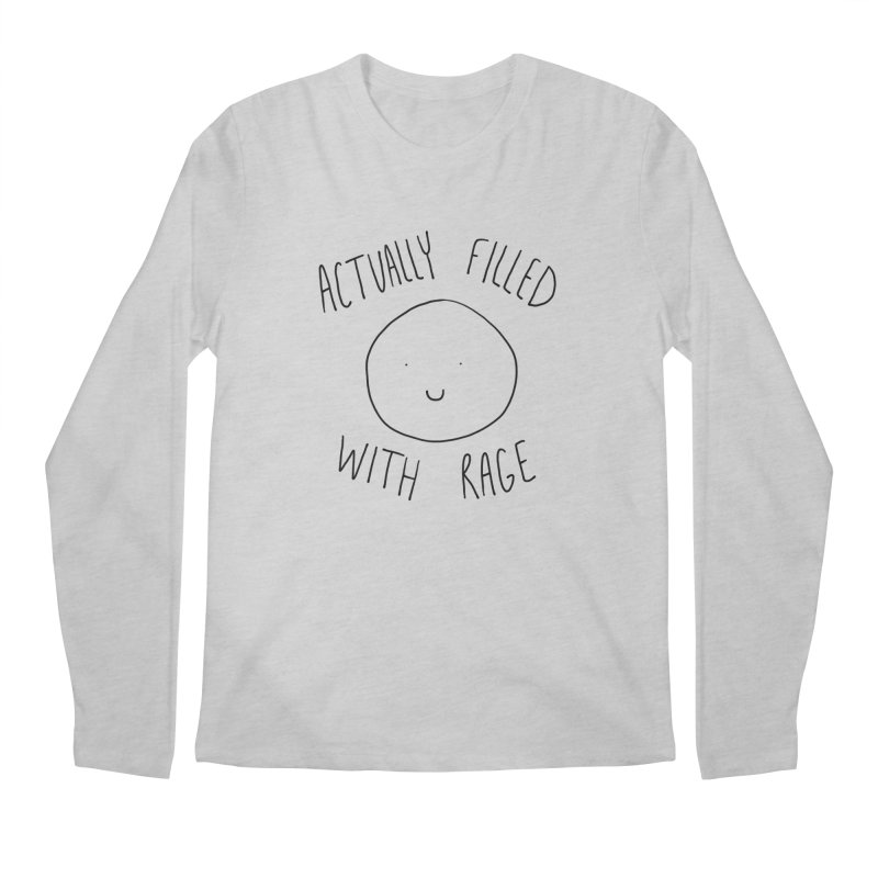 Actually Filled With Rage Men's Regular Longsleeve T-Shirt by Stick Figure Girl Stuff