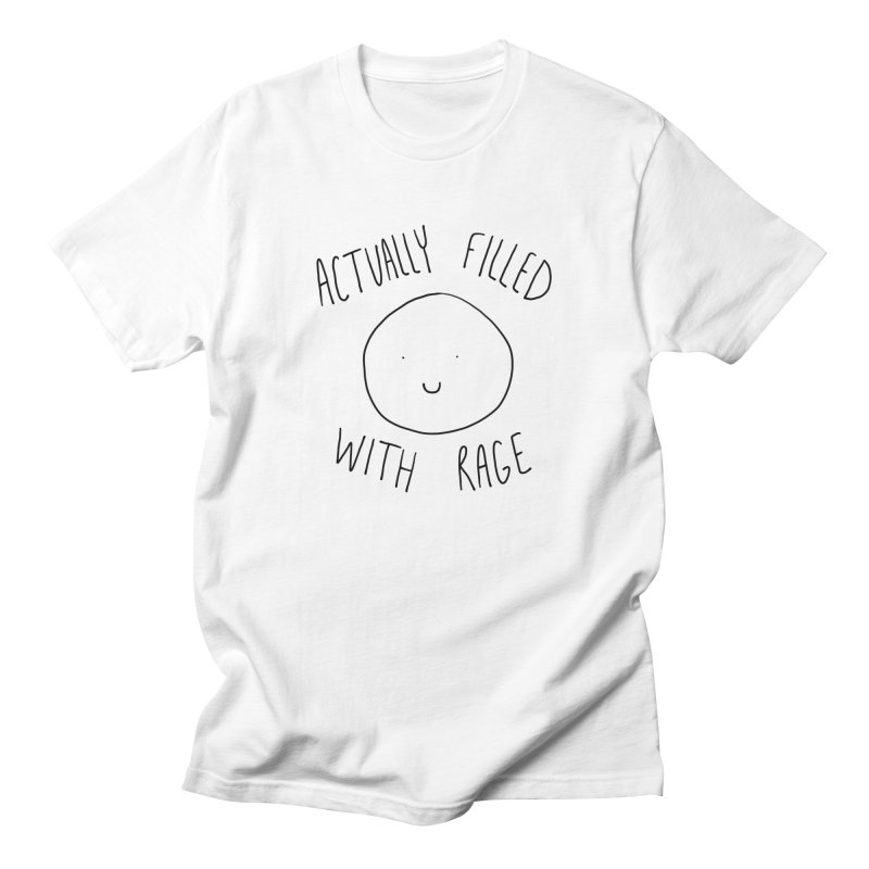 Actually Filled With Rage Men's T-Shirt by Stick Figure Girl Stuff