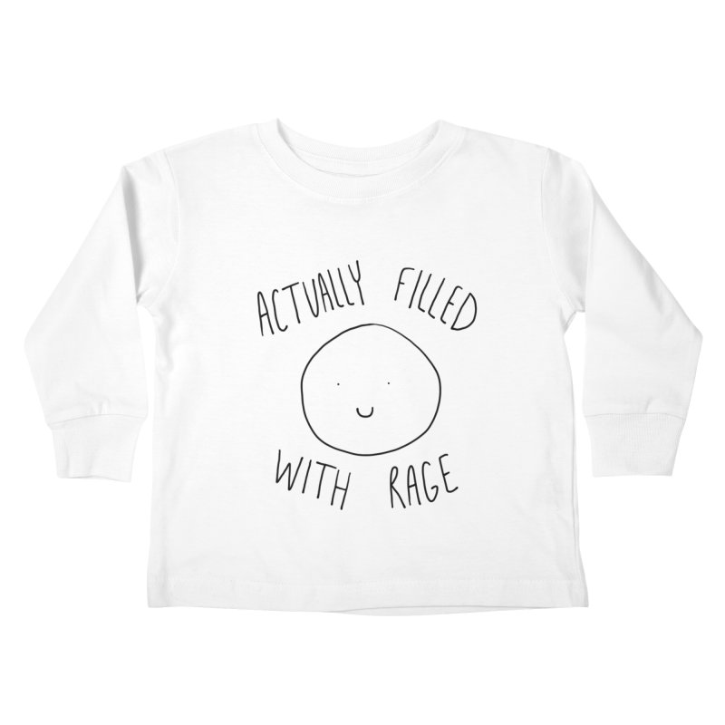 Actually Filled With Rage Kids Toddler Longsleeve T-Shirt by Stick Figure Girl Stuff