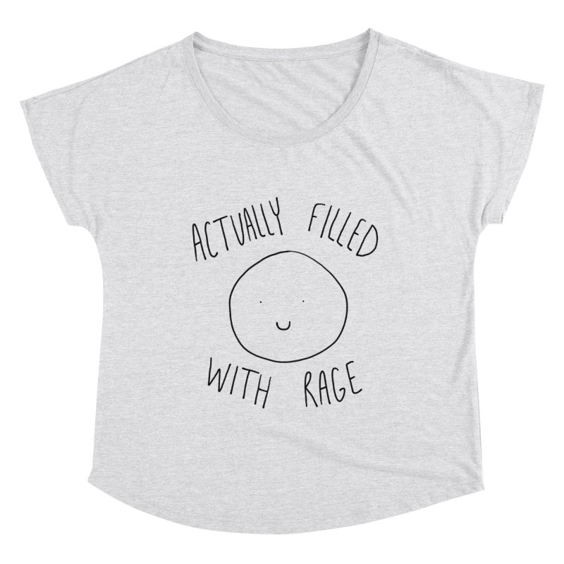 Actually Filled With Rage Women's Scoop Neck by Stick Figure Girl Stuff
