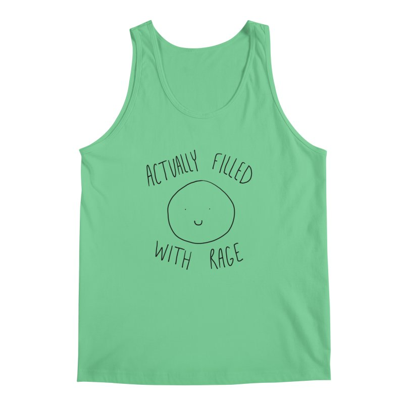 Actually Filled With Rage Men's Regular Tank by Stick Figure Girl Stuff