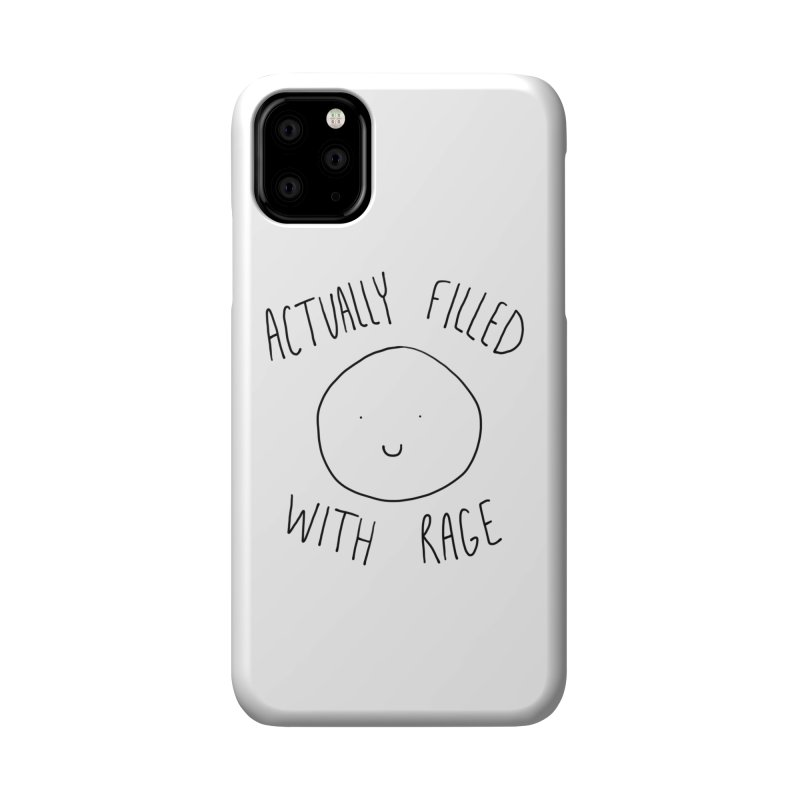 Actually Filled With Rage Accessories Phone Case by Stick Figure Girl Stuff