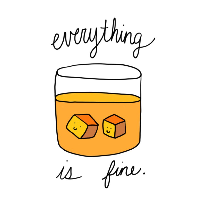 Everything is fine. Men's Sweatshirt by Stick Figure Girl Stuff