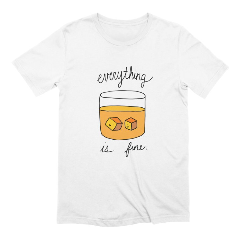 Everything is fine. Men's Extra Soft T-Shirt by Stick Figure Girl Stuff