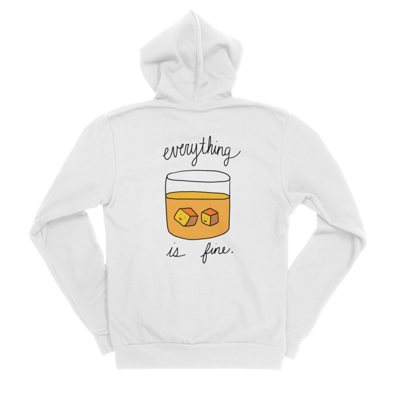 Everything is fine. Women's Zip-Up Hoody by Stick Figure Girl Stuff