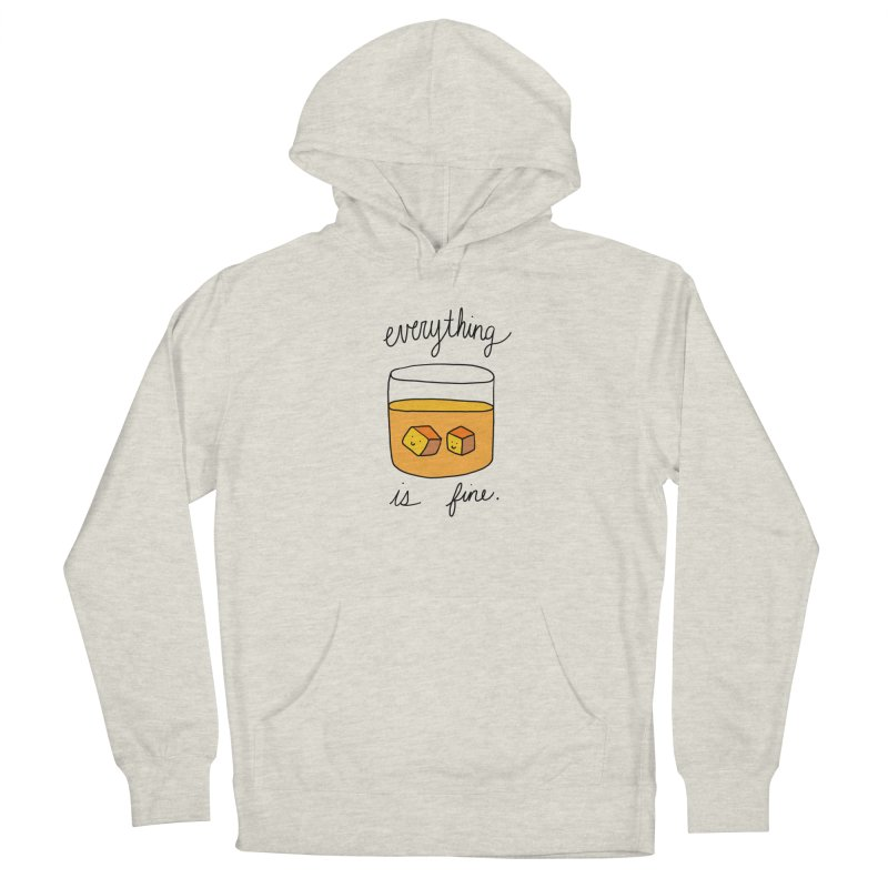 Everything is fine. Men's Pullover Hoody by Stick Figure Girl Stuff