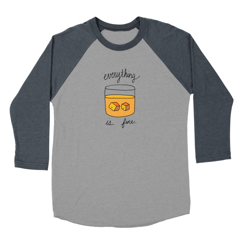 Everything is fine. Men's Longsleeve T-Shirt by Stick Figure Girl Stuff