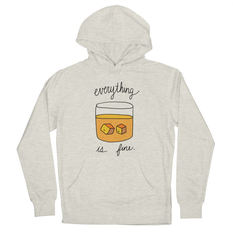 Everything is fine. Men's French Terry Pullover Hoody by Stick Figure Girl Stuff