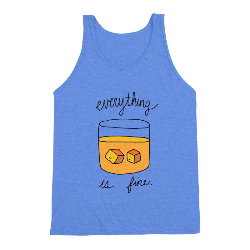 Everything is fine. Men's Triblend Tank by Stick Figure Girl Stuff