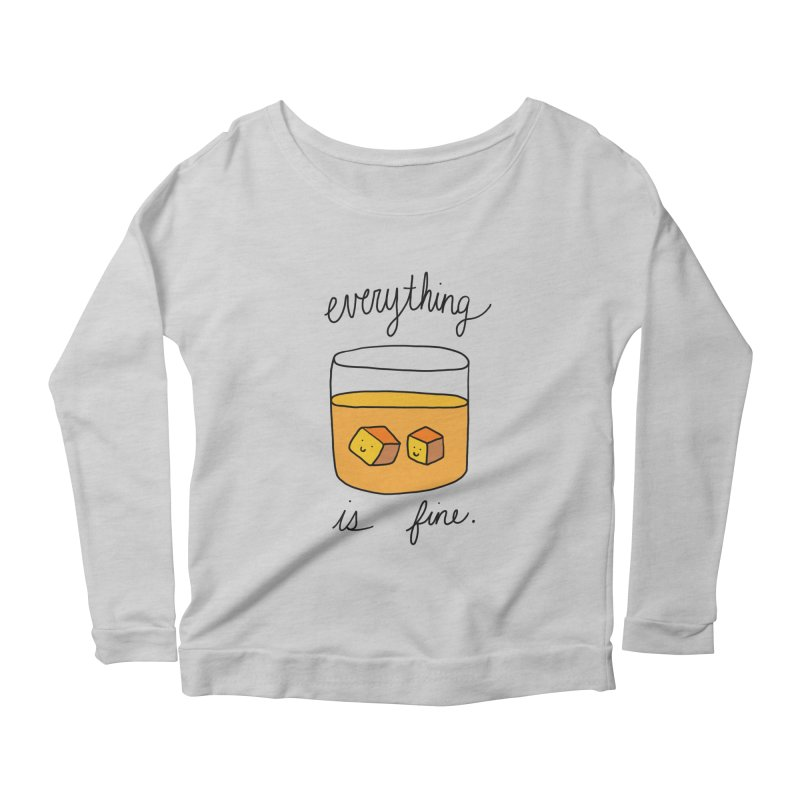 Everything is fine. Women's Longsleeve T-Shirt by Stick Figure Girl Stuff