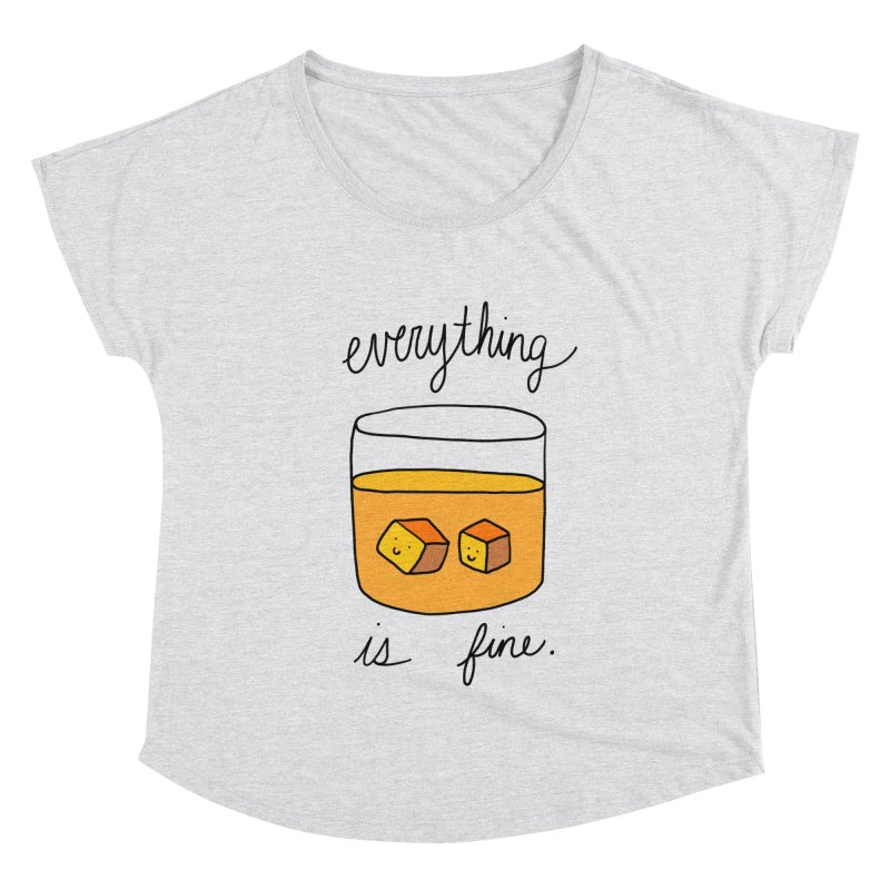 Everything is fine. Women's Scoop Neck by Stick Figure Girl Stuff