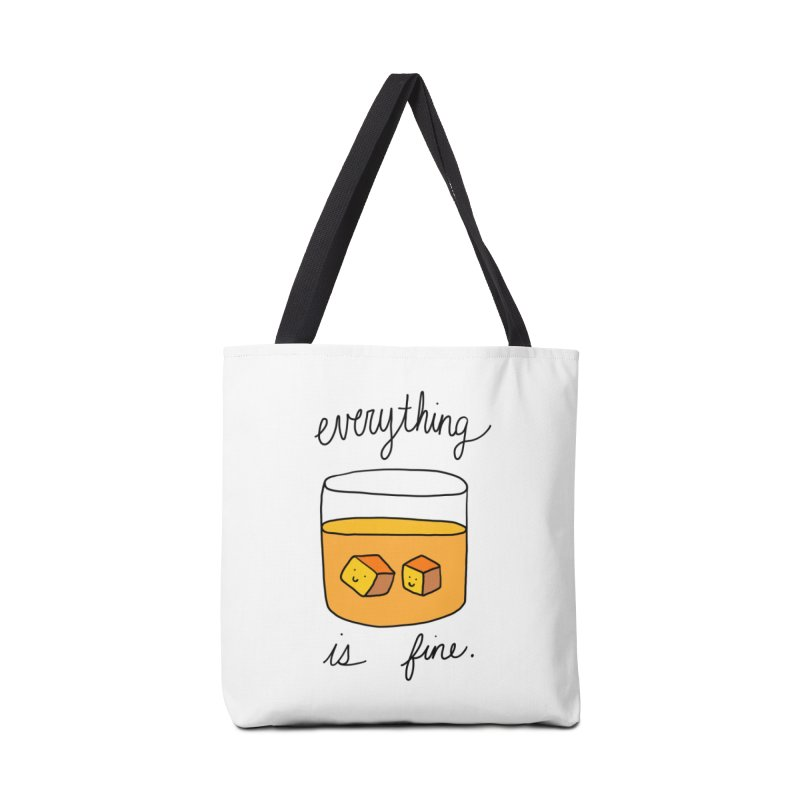 Everything is fine. Accessories Bag by Stick Figure Girl Stuff