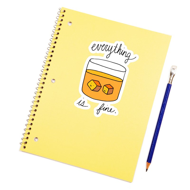 Everything is fine. Accessories Sticker by Stick Figure Girl Stuff