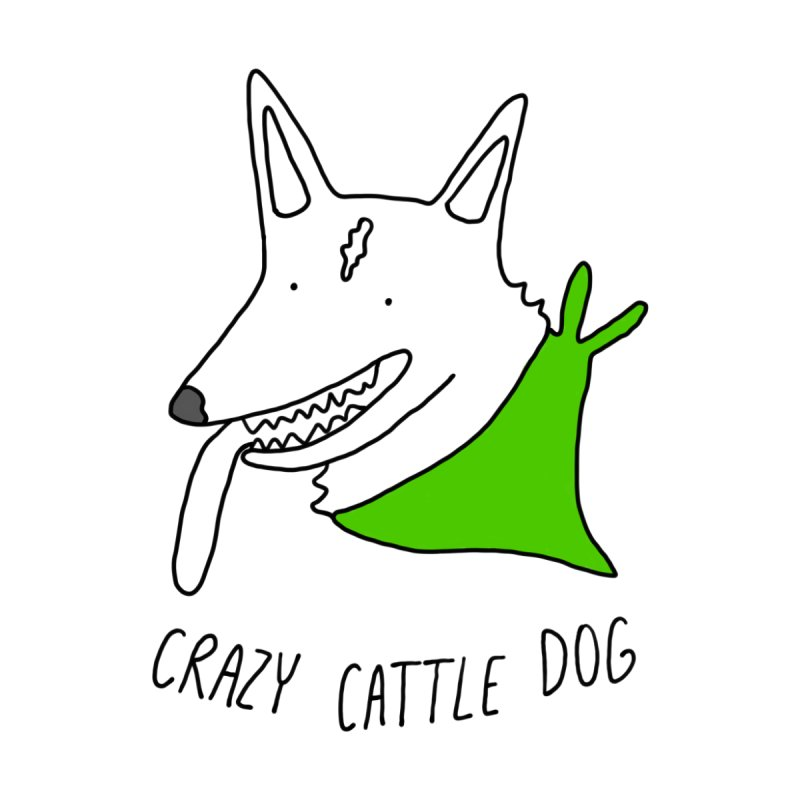 Crazy Cattle Dog Men's Zip-Up Hoody by Stick Figure Girl Stuff