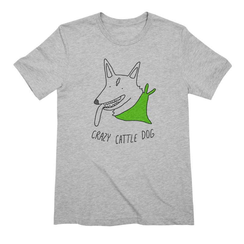 Crazy Cattle Dog Men's Extra Soft T-Shirt by Stick Figure Girl Stuff