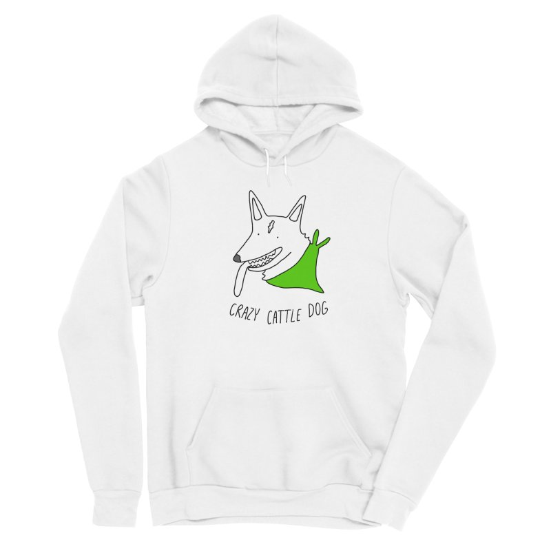 Crazy Cattle Dog Women's Pullover Hoody by Stick Figure Girl Stuff