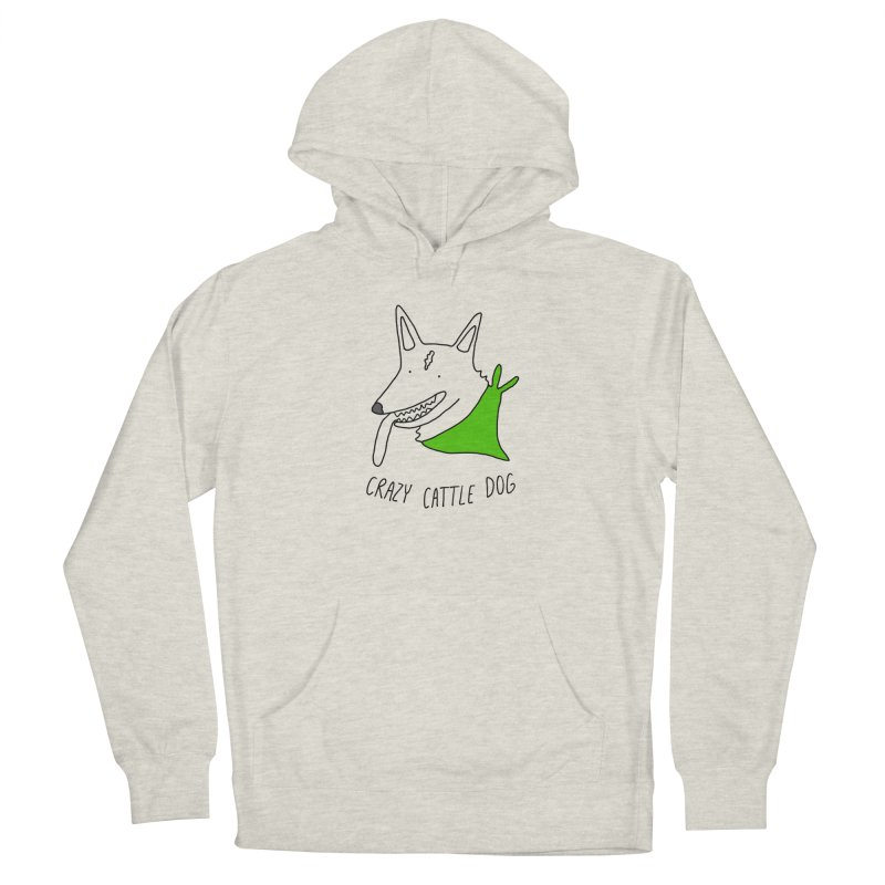 Crazy Cattle Dog Women's French Terry Pullover Hoody by Stick Figure Girl Stuff