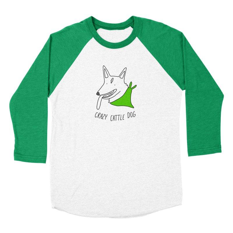 Crazy Cattle Dog Women's Longsleeve T-Shirt by Stick Figure Girl Stuff