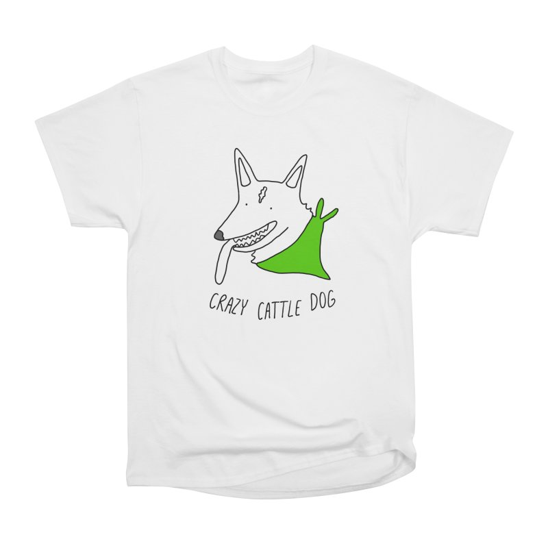 Crazy Cattle Dog Men's T-Shirt by Stick Figure Girl Stuff